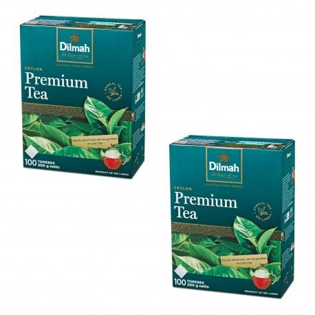 Dwupak Herbata Dilmah Premium Tea 100 torebek