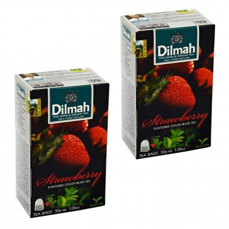 Dwupak Herbata Dilmah Strawberry 20 torebek