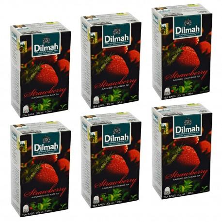 Herbata Dilmah Strawberry 20 torebek x 6
