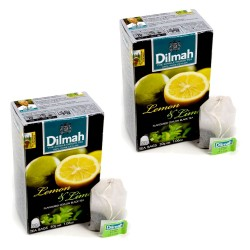 Dwupak Herbata Dilmah Lemon & Lime 20 torebek