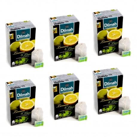 Herbata Dilmah Lemon & Lime 20 torebek x 6 op