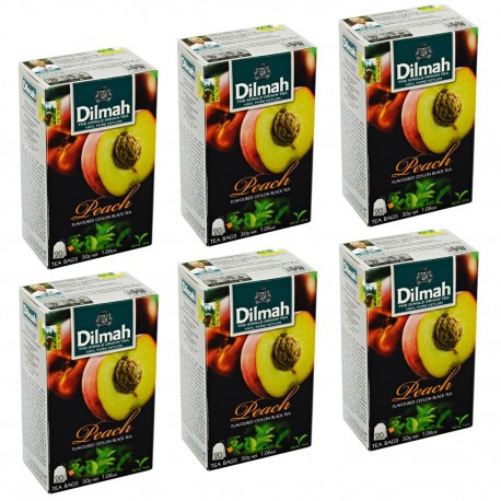 Herbata Dilmah Peach 20 torebek x 6 op