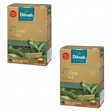 Dwupak Dilmah Ceylon Gold – herbata liściasta 250g