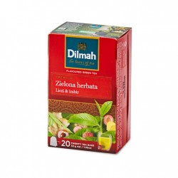 Dilmah Green Tea with Lychee and Ginger 20 torebek