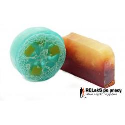 Zestaw mydło peelingujące niebieska laguna plus mydło oliwkowo-laurowe czekolada z pomarańczą