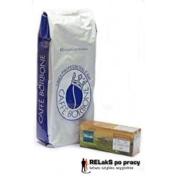 Zestaw kawa zarnista BORBONE BLU 1 kg. plus Herbata Dilmah Ceylon Gold 25 torebek