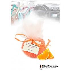 Perełki zapachowe do samochodów, łazienek i pomieszczeń w tiulu pomarańcza