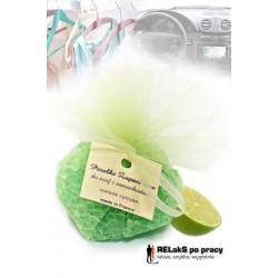Perełki zapachowe do samochodów, łazienek i pomieszczeń w tiulu zielona cytryna