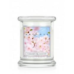 Aromatyczna świeca o zapachu kwiatu wiśni w zamykanym szklanym słoiku
