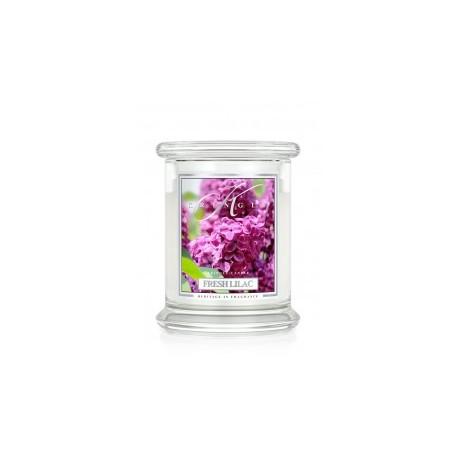 Aromatyczna świeca o zapachu świeżego bzu w zamykanym szklanym słoiku