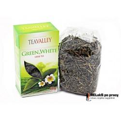 Herbata zielona i biała liściasta TEAVALLEY 80 g.