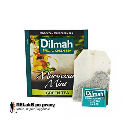 Dilmah Green Tea Moroccan Mint [10x1.5g]