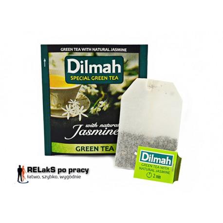 Dilmah Green Tea z płatkami kwiatu jaśminu [10x1.5g]