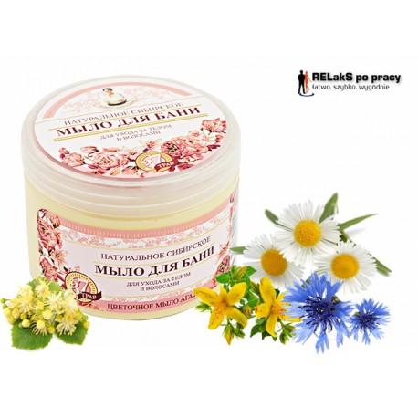 Mydło Syberyjskie Ziołowo - Kwiatowe Babci Agafii EU 500 ml