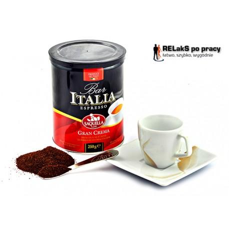 Kawa mielona Saquella Bar Italia Gran Crema 250g  puszka