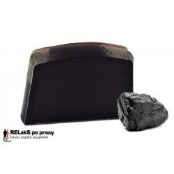 Czarne mydło organiczne z węglem aktywnym 100 g.