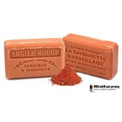 Mydło marsylskie z dodatkiem Czerwonej Glinki i Masła Shea 125g