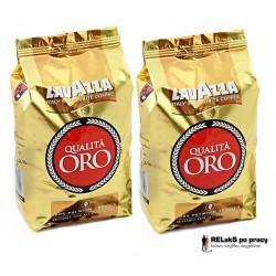 Duopak kawy ziarnista Lavazza Qualita Oro 1 kg