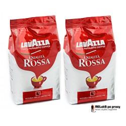 Duopak Kawa ziarnista Lavazza Qualita Rossa 1 kg