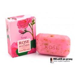 Mydło różane z płatkami róży demasceńskiej i wodą różaną 100 g