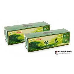 Duopak herbata zielona prasowana w kostkach – 2 x 125g