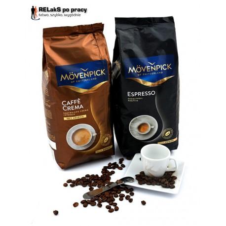 Zestaw kaw, ziarnista MOVENPICK Espresso + MOVENPICK Caffe Crema 1 kg + 1 kg