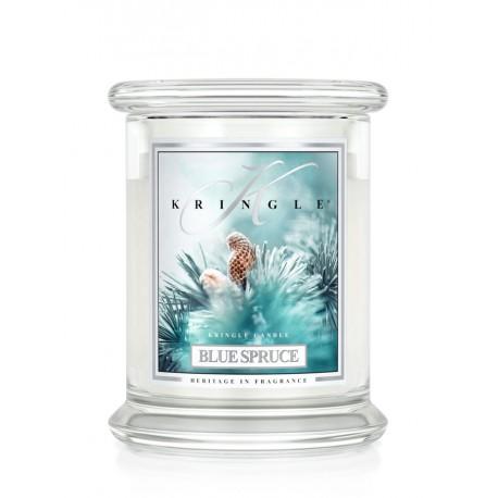 Aromatyczna świeca o zapachu Blue Spruce w zamykanym szklanym słoiku
