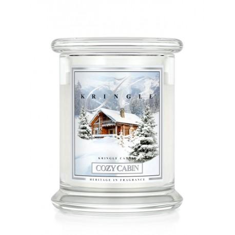 Aromatyczna świeca COZY CABIN w zamykanym szklanym słoiku