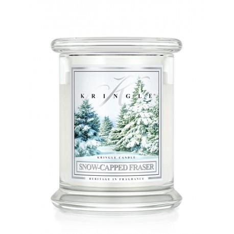 Aromatyczna świeca SNOW CAPPED FRASER w zamykanym szklanym słoiku