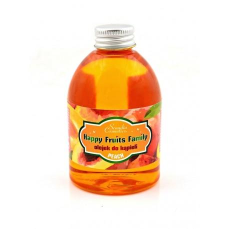 Olejek do kąpieli Happy Fruits Family 300 ml z nutą brzoskwiniowego aromatu