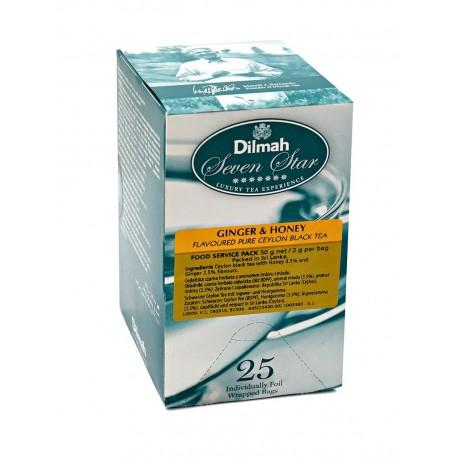 Herbata Dilmah Ginger & Honey 25 kopert