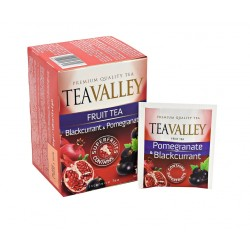Herbata TEAVALLEY z superowocami Granat i Czarna Porzeczka 15 kopert