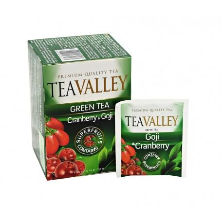 Herbata zielona TEAVALLEY z superowocami Goi i Żurawina  15 kopert