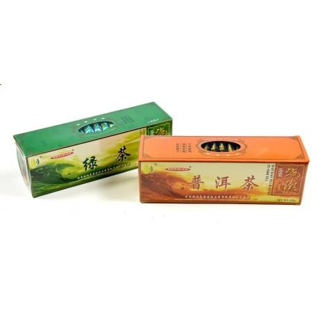 Zestaw herbat w kostkach Pu Erh + Zielona Prasowana Yunnan 2 x 125g
