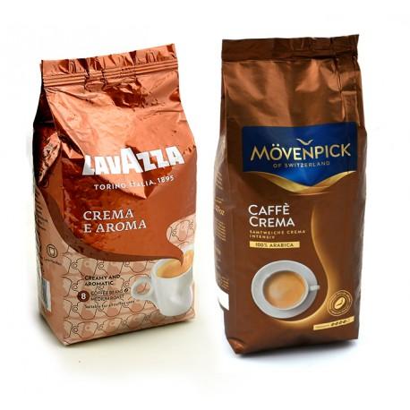 Zestaw aromatycznych ziarnistych kaw Crema