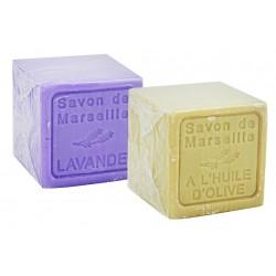 Dwupak mydeł marsylskich Le Chatelard Oliwa z Oliwek plus Lawendowe 2 x 300g