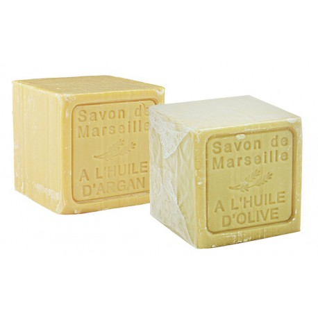 Dwupak mydeł marsylskich Le Chatelard Oliwa z Oliwek plus Arganowe 2 x 300g