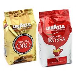 Zestaw kawy ziarnistej Lavazza Oro plus Rossa 2 x 1 kg