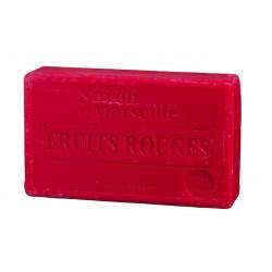 Mydło marsylskie czerwone owoce z dodatkiem oleju ze słodkich migdałów 100g