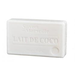 Mydło marsylskie Mleczko Kokosowe z dodatkiem oleju ze słodkich migdałów 100g