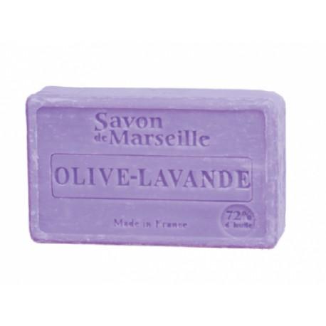 Mydło marsylskie Oliwka-Lawenda z dodatkiem oleju ze słodkich migdałów 100g