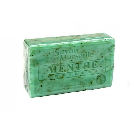 Mydło marsylskie Listki mięty z dodatkiem oleju ze słodkich migdałów 100g