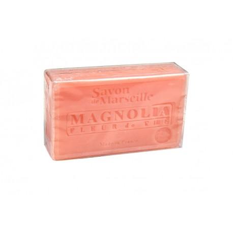 Mydło marsylskie Magnolia-Kwiat Herbaty z dodatkiem oleju ze słodkich migdałów 100g