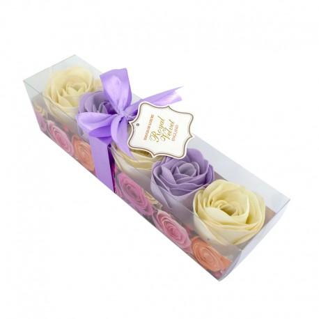 Konfetti mydlane Royal Velvet fiolet-wanilia o zapachu waniliowym