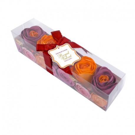 Konfetti mydlane Royal Velvet pomarańczowo-bordowe o zapachu różanym
