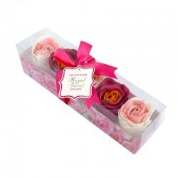 Konfetti mydlane Royal Velvet różowo-bordowe o zapachu różanym