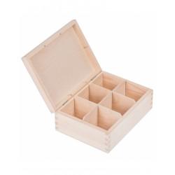 Pudełko drewniane na herbatę 6 przegródek